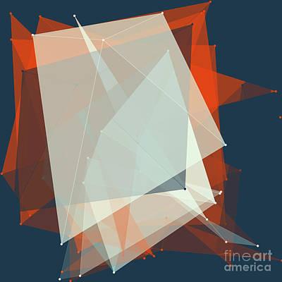Coast Polygon Pattern Poster