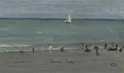 Coast Scene, Bathers Poster by James Abbott McNeill Whistler