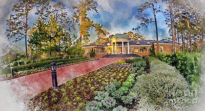 Coastal Carolina University Digital Watercolor Poster
