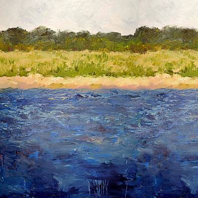 Poster featuring the painting Coastal Dunes - Square by Michelle Calkins