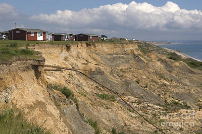 Coastal Erosion At Highcliffe Poster by Andy Smy