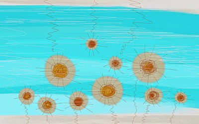 Coastal Flowers Poster by Frank Tschakert