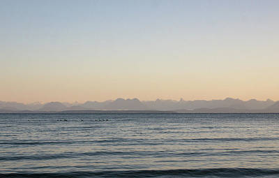 Coastal Mountains At Sunrise Poster