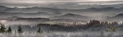 Coastal Range Panoramic 3 Poster by Leland D Howard