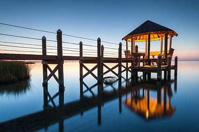 Coastal Serenity - Obx Gazebo Cape Hatteras National Seashore Poster by Mark VanDyke