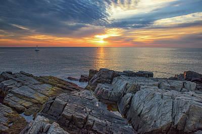 Coastal Sunrise On The Cliffs Poster