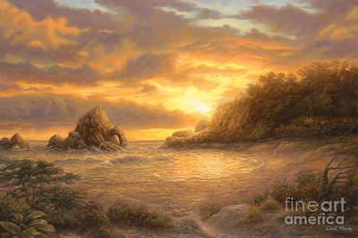 Coastal Sunset Poster by Chuck Pinson