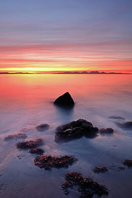 Poster featuring the photograph Coastal Sunset Kintyre by Grant Glendinning