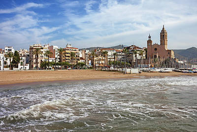 Coastal Town Of Sitges In Spain Poster by Artur Bogacki