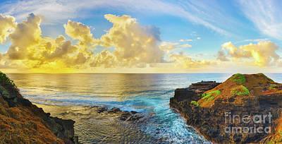Coastal View At Sunrise. Panorama Poster
