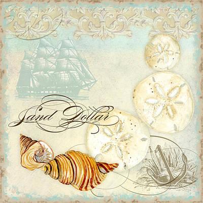 Coastal Waterways - Seashells Poster by Audrey Jeanne Roberts