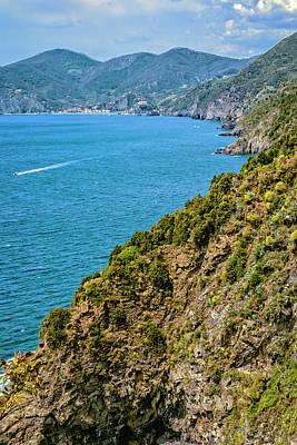 Coastline Cinque Terre Italy Poster by Joan Carroll