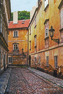 Cobblestone Passageway 4 Poster by Bob Phillips