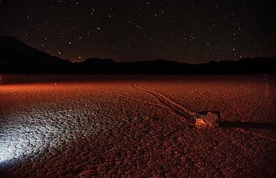 Poster featuring the photograph Cobblestones On The Racetrack Playa by Peter Thoeny