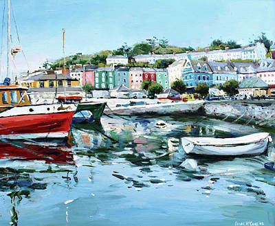 Cobh Harbour County Cork Poster by Conor McGuire