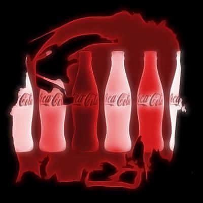 Coca Cola Electric Art Poster