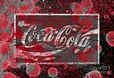Coca Cola Bubbles Poster by John Stephens