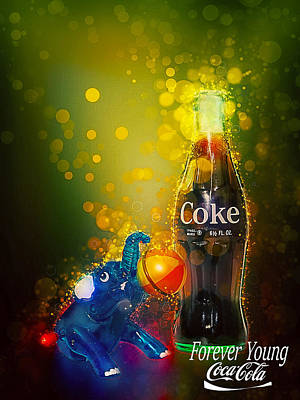 Poster featuring the photograph Coca-cola Forever Young 3 by James Sage