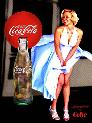 Poster featuring the photograph Coca Cola Girl Marilyn by James Sage