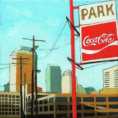 Poster featuring the painting Coca Cola Park by Linda Apple