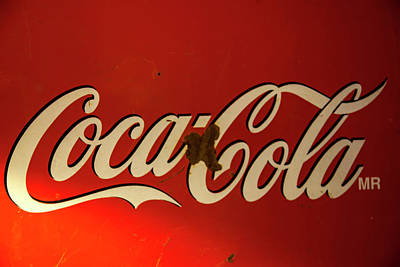 Poster featuring the photograph Coca-cola Sign  by Toni Hopper