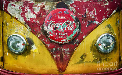 Coca Cola Vw Split Screen  Poster by Tim Gainey