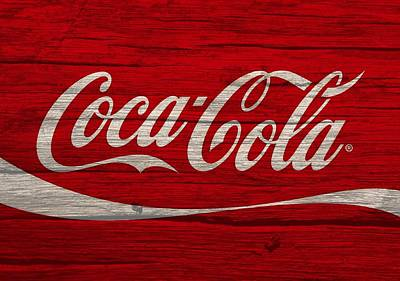 Coca Cola Worn Wood Sign Poster by Dan Sproul
