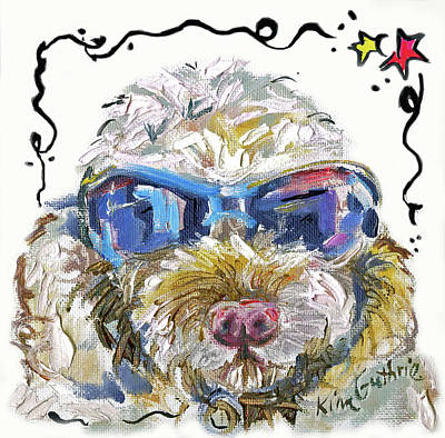 Cockapoo Dog Painting By Kim Guthrie Poster