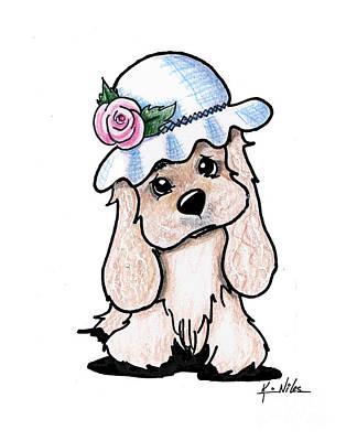 Cocker Spaniel In Hat Poster