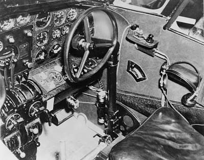 Cockpit Of Amelia Earharts Plane Poster