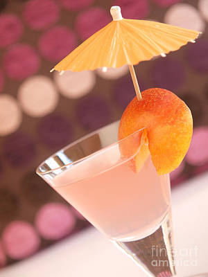 Cocktail Of Peaches Poster