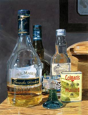 Poster featuring the painting Cocktails And Mustard by Lynne Reichhart