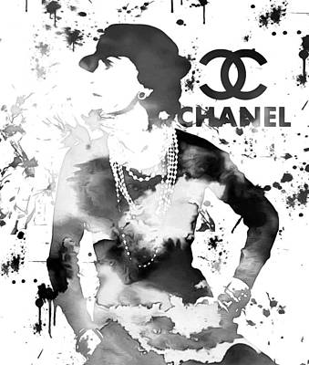 Coco Chanel Grunge Poster by Dan Sproul