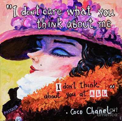 Poster featuring the painting Coco Chanel by Igor Postash
