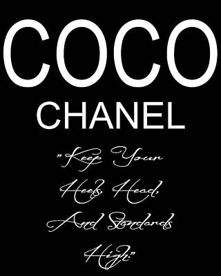 Coco Chanel Quote 2 Poster