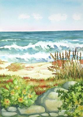 Poster featuring the painting Cocoa Beach Afternoon by Inese Poga