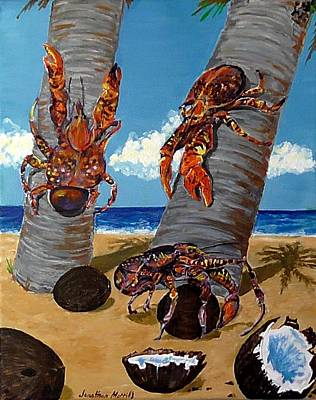 Coconut Crab Cluster Poster