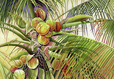 Coconut Palm Poster by Lyse Anthony