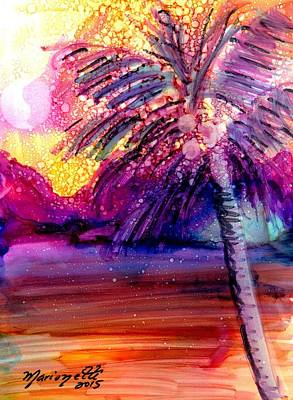Coconut Palm Tree 2 Poster by Marionette Taboniar