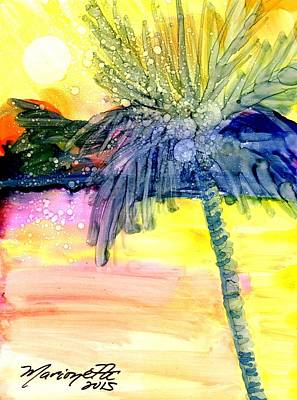 Coconut Palm Tree 3 Poster by Marionette Taboniar