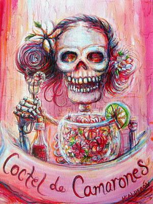 Poster featuring the painting Coctel De Camarones by Heather Calderon