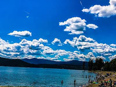 Poster featuring the photograph Coeur D Alene City Beach by Pacific Northwest Imagery