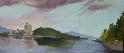 Coeur D Alene Lake    North  Idaho Poster