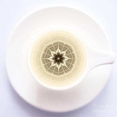 Poster featuring the digital art Coffe Foam Mandala by Klara Acel