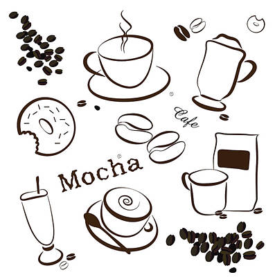Coffee And Cafe Background Poster