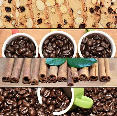 Coffee And Pastry Collage Poster