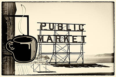 Coffee At The Market II Poster by David Patterson
