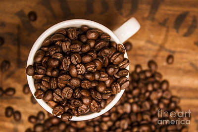 Coffee Bean Advert Poster by Jorgo Photography - Wall Art Gallery