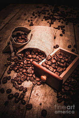 Coffee Bean Art Poster by Jorgo Photography - Wall Art Gallery