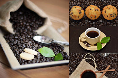Coffee Collage Photo Poster